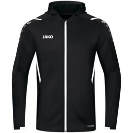 JAKO Jas met kap Challenge zwart/wit (6821/802)