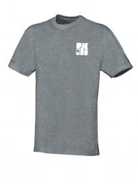 T-Shirt Team grijs gemeelerd met logo vooraan