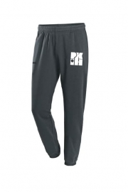 Jogging Trousers Basic Team antraciet met logo vooraan