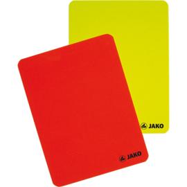 Jako Kaartenset scheidsrechter rood-geel 2164
