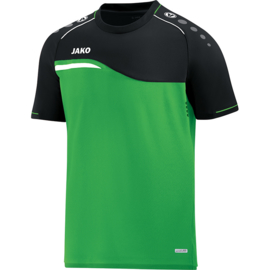 JAKO T-shirt Competition 2.0 soft groen-zwart 6118/22
