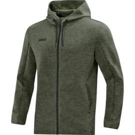 JAKO Pemium Basics jas met kap kaki gemeleerd 6829/28