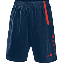 JAKO Short Turin navy-flame 4462/18