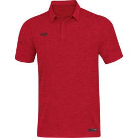JAKO Polo Premium Basics rood gemeleerd 6329/01