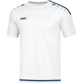 JAKO T-shirt/Shirt Striker 2.0 KM wit-marine 4219/90