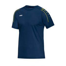 JAKO T-shirt Classico nachtblauw-citroen 6150/42