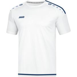 JAKO T-shirt Striker wit-marine 4219/90