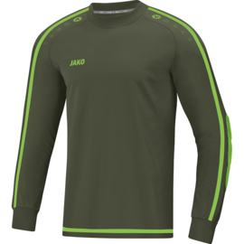 Jako Keepershirt Striker 2.0 kaki-fluogroen 8905/28