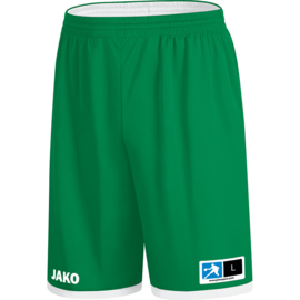 JAKO Reversible short Change 2.0 sportgroen-wit 4451/06
