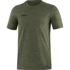 JAKO T-shirt Premium Basics kaki gemeleerd 6129/28