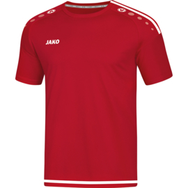 JAKO T-shirt Striker chilirood-wit 4219/11