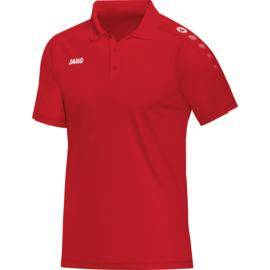 Polo Classico  rood-wit (met bedrukking SVAZ + COACH)