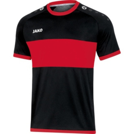 JAKO Shirt Boca KM zwart-sportrood 4213/81