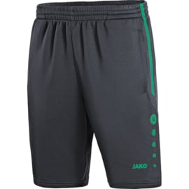 JAKO Trainingsshort Active antraciet-turqoois 8595/24