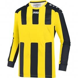 JAKO Shirt Milan LM citroen/zwart 4343/03