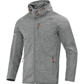JAKO Veste softshell light gris mélange 7605/40