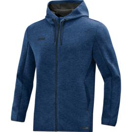 JAKO Pemium Basics jas met kap marine gemeleerd 6829/49