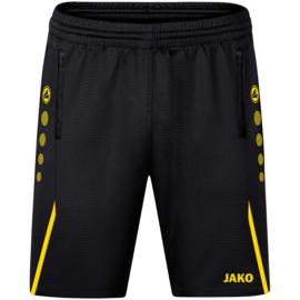 JAKO Traingsshort Challenge zwart/citroen (8521/803)