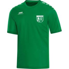 T-Shirt Striker sportgroen (met clublogo + Kerkhofs +Hebo  + www.acbree.be)