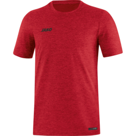 JAKO T-shirt Premium Basics rood gemeleerd 6129/01