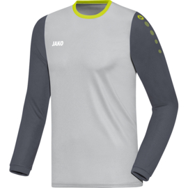 JAKO Shirt Leeds LM antraciet-donkergrijs-lime 4317/21