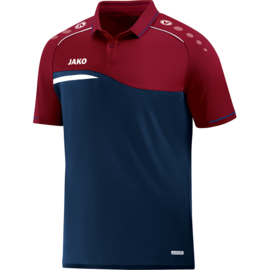 JAKO Polo Competition 2.0 marine-donker rood 6318/09