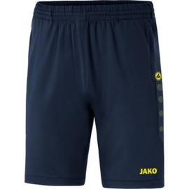 JAKO Trainingsshort Premium marine-fluogeel 8520/93