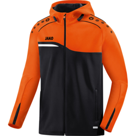 JAKO Veste à capuchon Competition 2.0 noir-orange fluo 6818/19