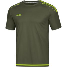 JAKO T-shirt Striker kaki-fluogroen 4219/28