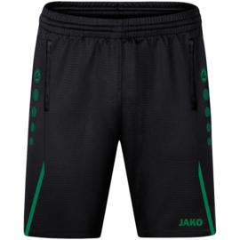 JAKO Traingsshort Challenge zwart/sportgroen  (8521/813)
