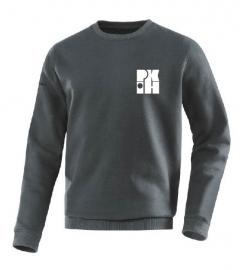Sweater Team antraciet met logo voor en achter