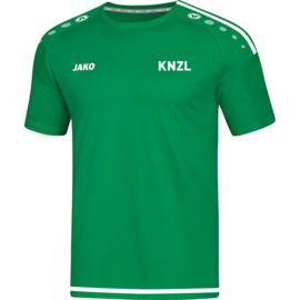 T-Shirt Striker 2.0 sportgroen (+ Clublogo KNZL)