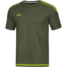 JAKO T-shirt/Shirt Striker 2.0 KM kaki-fluogroen 4219/28