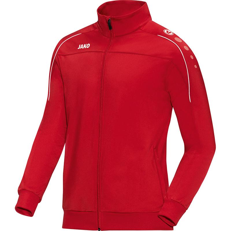 Polyestervest Classico rood-wit (met bedrukking KAZSC)