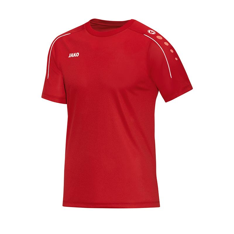 T-shirt Classico rood-wit (met bedrukking KAZSC)