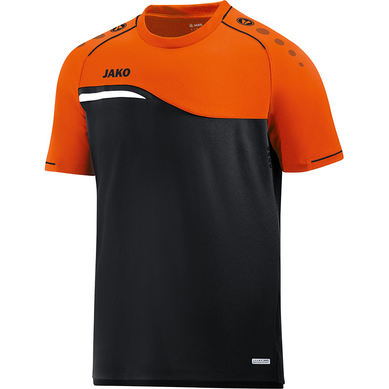 JAKO T-shirt Competition 2.0 noir-orange fluo 6118/19