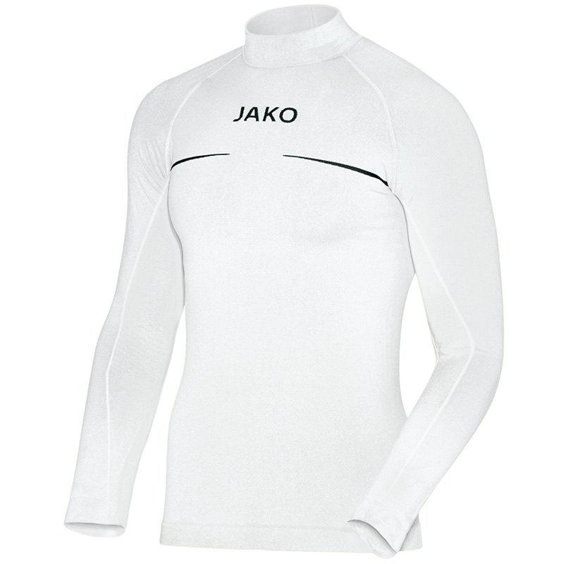 JAKO Shirt opstaande kraag Comfort wit 6952/00