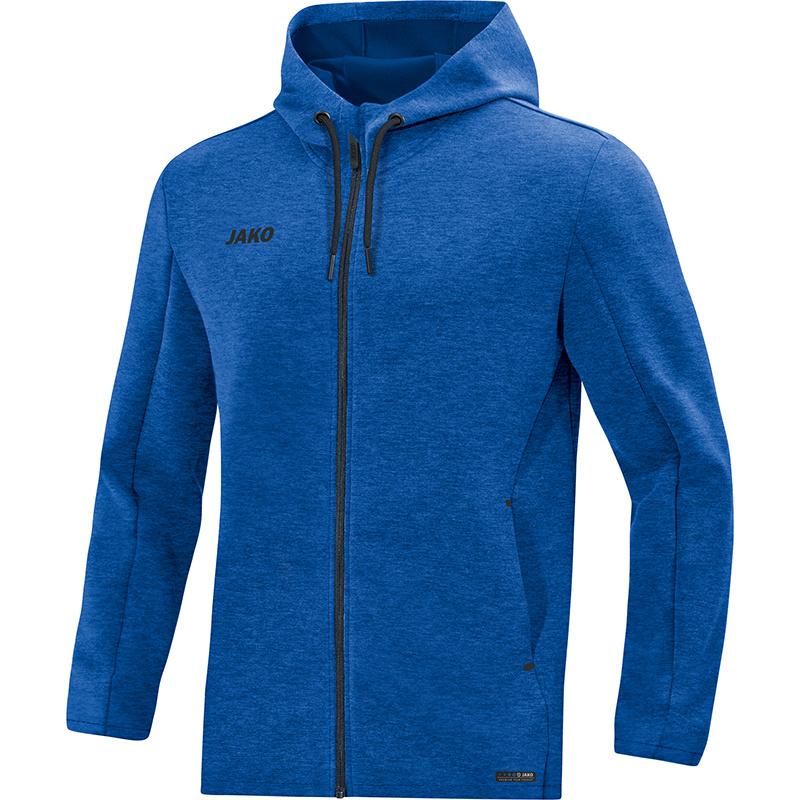 JAKO Pemium Basics jas met kap royal gemeleerd 6829/04