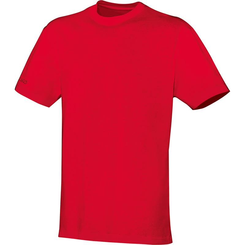 T-Shirt Team rood-wit (met bedrukking KAZSC)