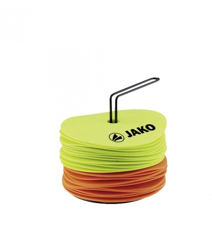 Disques marqueurs jaune fluo-orange fluo