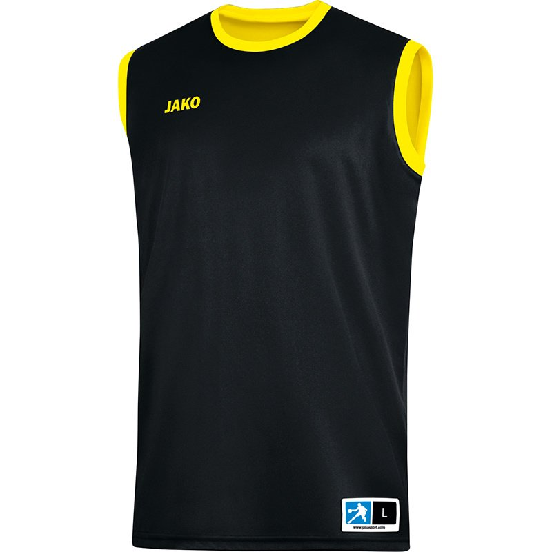 JAKO Reversible shirt Change 2.0 zwart-citroen 4151/03
