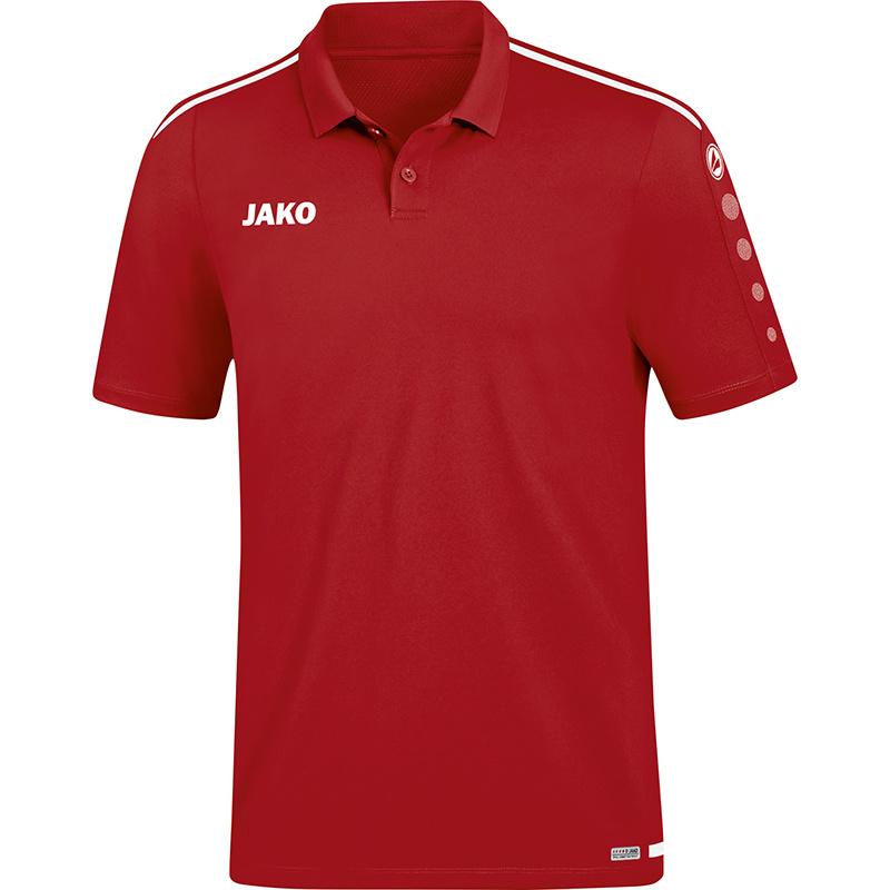 JAKO Polo Striker 2.0 rouge chili-blanc 6319/11