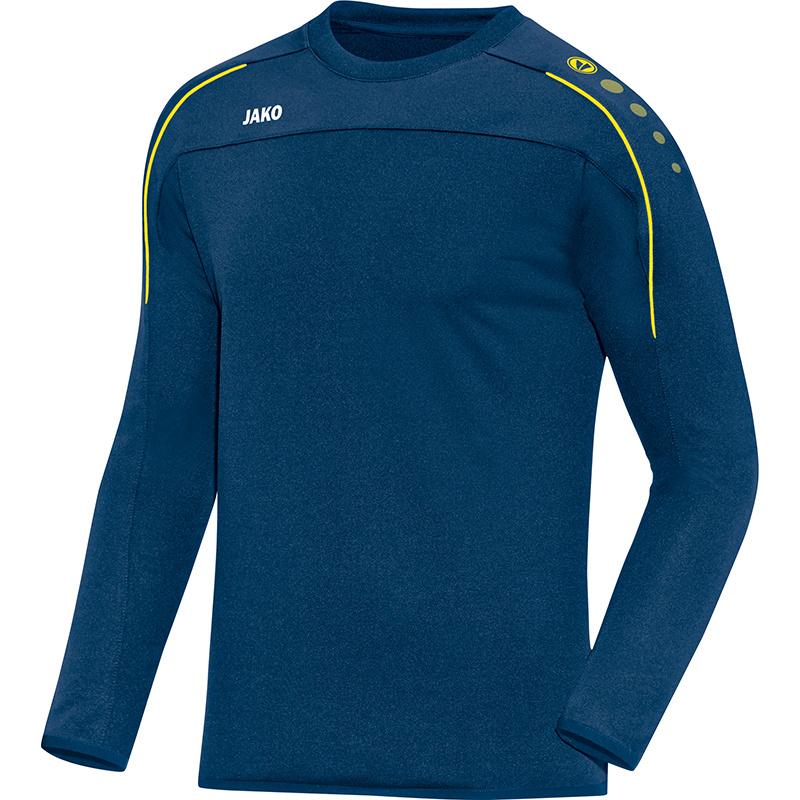 JAKO Sweater Classico nachtblauw-citroen 8850/42
