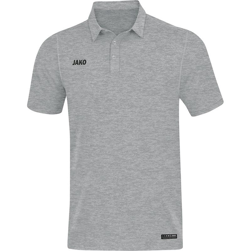 JAKO Polo Premium Basics grijs gemeleerd 6329/40