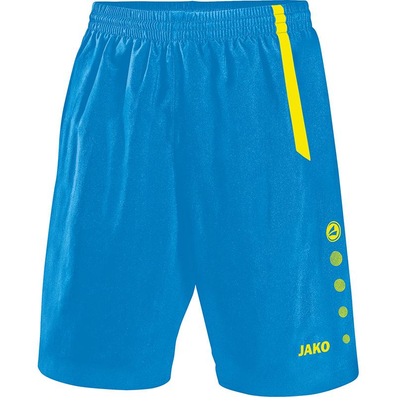 JAKO Short Turin bleu JAKO/jaune fluo 4462/83