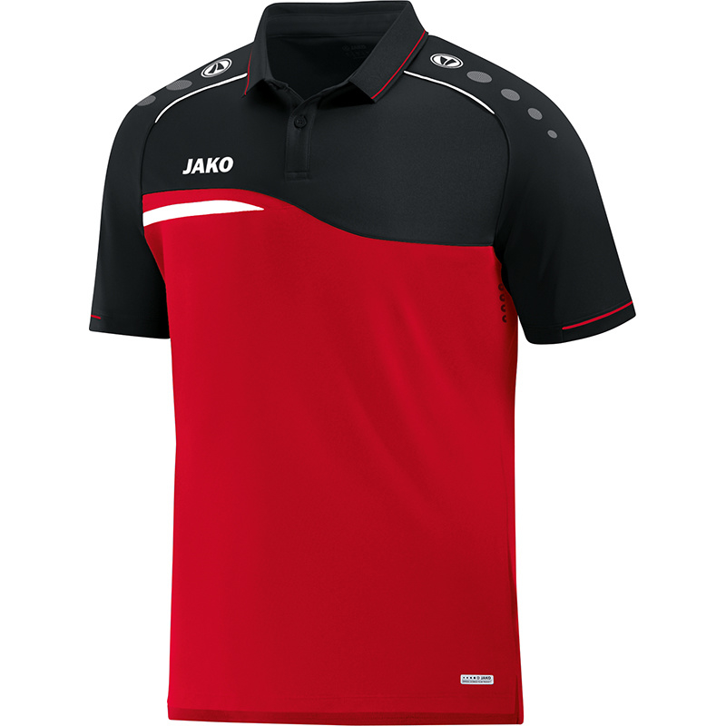 JAKO Polo Competition 2.0 rouge-noire 6318/01