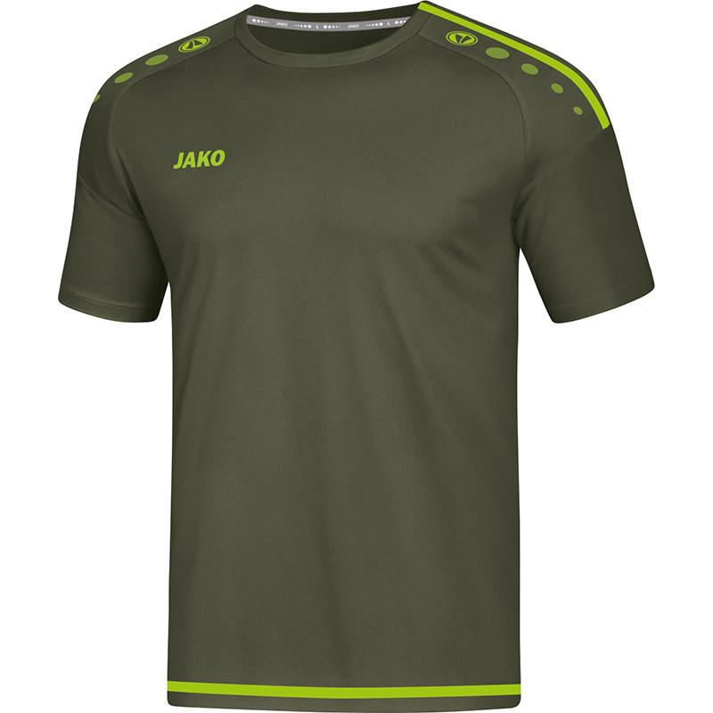 JAKO T-shirt Striker 2.0 kaki-fluogroen 4219/28