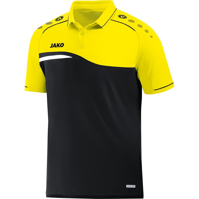 JAKO Polo Competition 2.0 noir-jaune fluo 6318/03