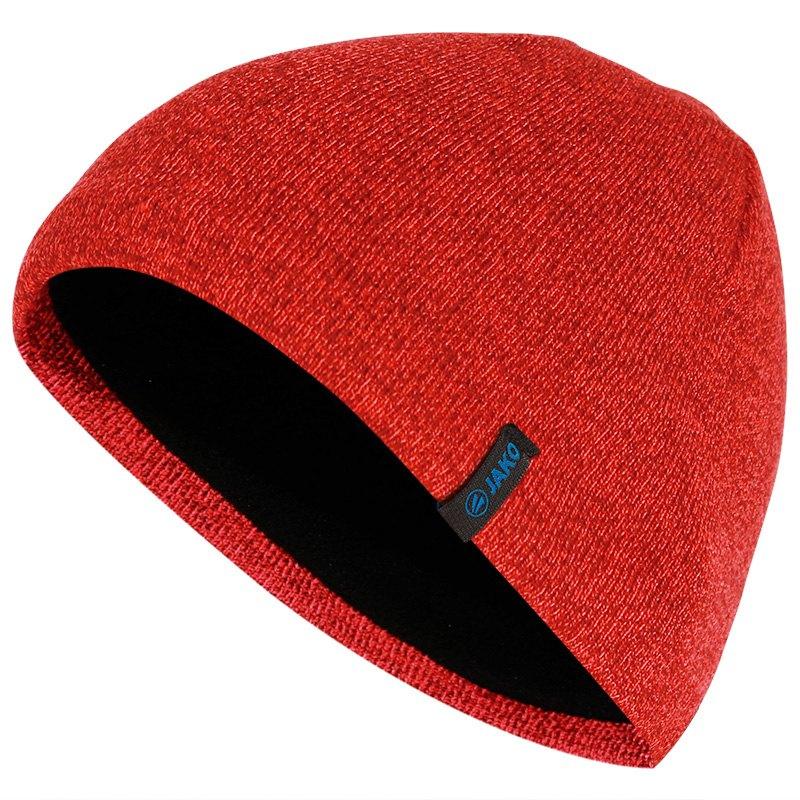 JAKO Bonnet tricoté rouge 1223/01