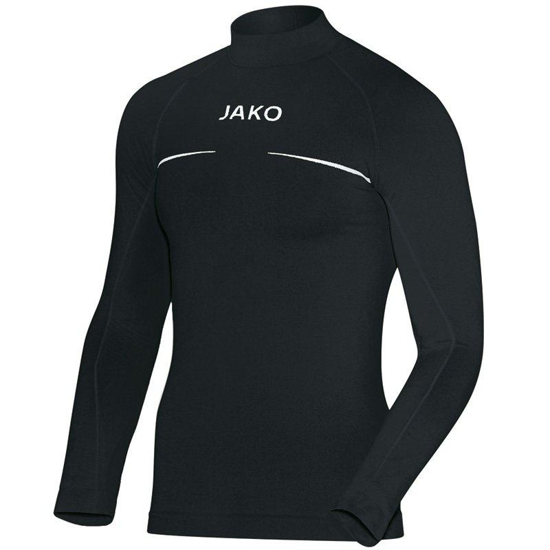 JAKO Shirt opstaande kraag Comfort zwart 6952/08